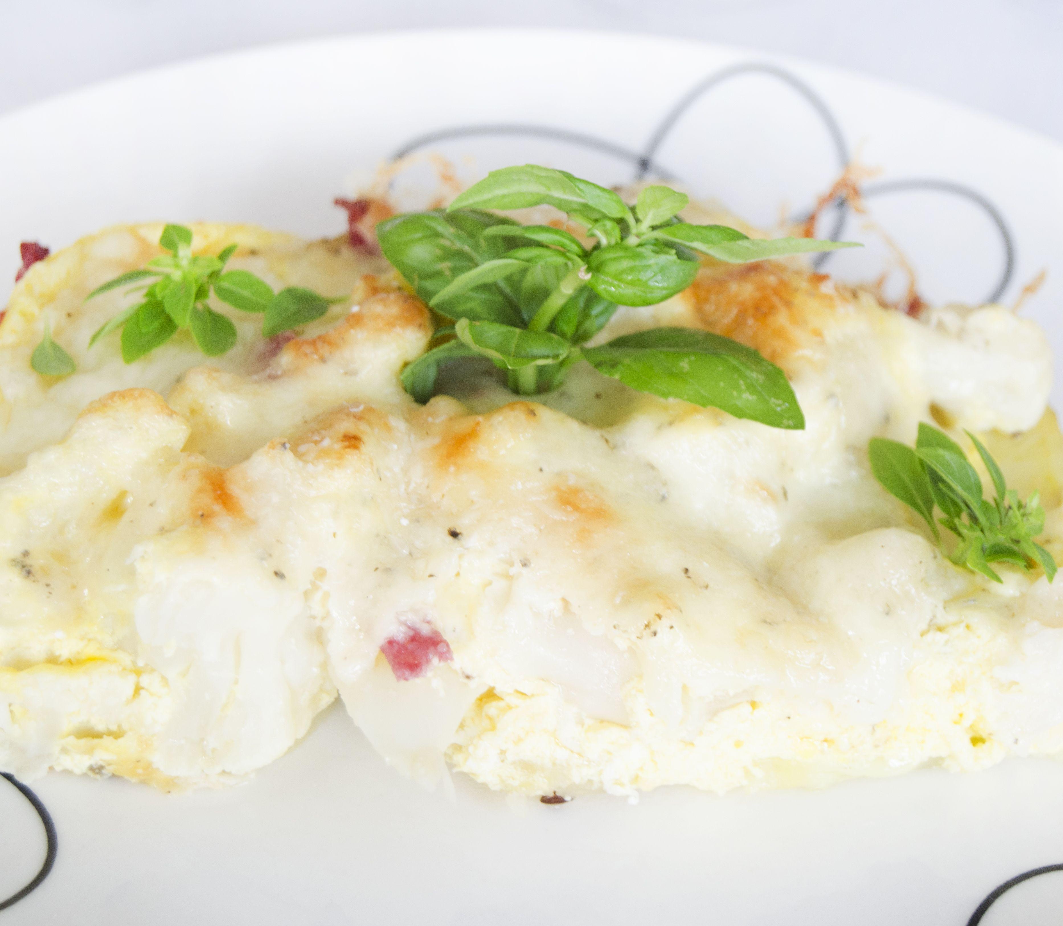 FOTORECEPT Zapekaný karfiol so salámou a syrom: Rýchla náhrada vyprážania