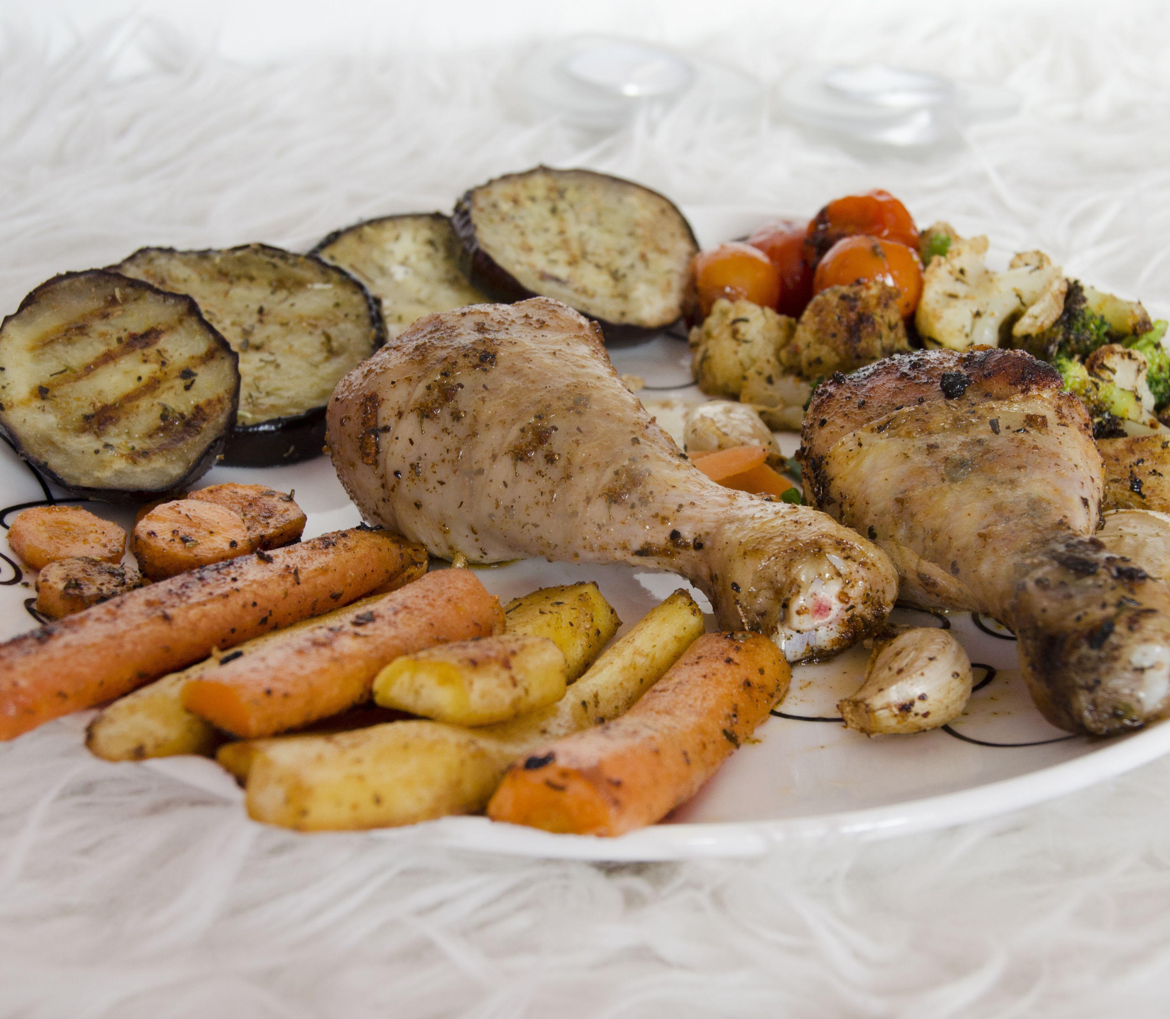 FOTORECEPT Grilovaná zelenina s hydinovými stehnami: Ideálne jedlo aj počas diéty